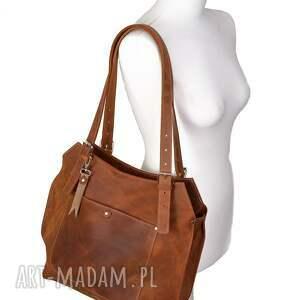 hand made na ramię skórzanetorby skórzana torebka wykonana ręcznie z wysokiej