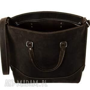 hand made na ramię rękodzieło ręcznie robiona skórzana torebka