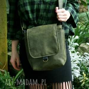czarne na ramię torebka safari vegan zieleń czerń