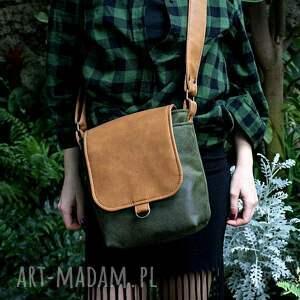 torba na ramię zielone safari vegan zieleń rudy