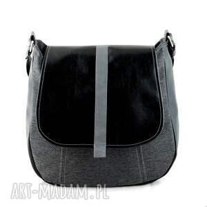 na ramię listonoszka sashka - torebka na - czerń