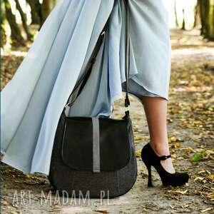 czarne na ramię sashka - torebka na - czerń