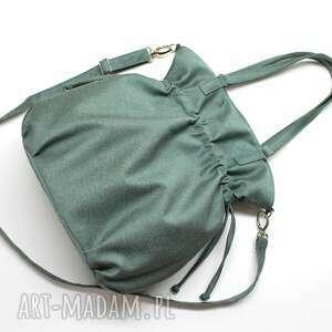 wyjątkowe na ramię elegancka shopper bag sack - tkanina zielona