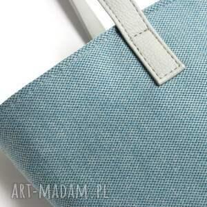 na święta upominki elegancka shopper bag bucket - niebieska