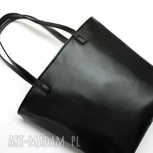 pomysł na święta prezent elegancka shopper bag bucket - czarny