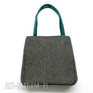 unikalne na ramię elegancka shopper bag worek - tkanina dark