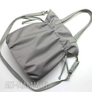 nietuzinkowe na ramię elegancka shopper bag sack - szara