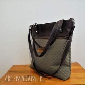ręcznie robione na ramię modna shopper bag z kieszenią