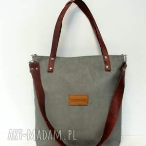 torba na ramię brązowe shopper bag