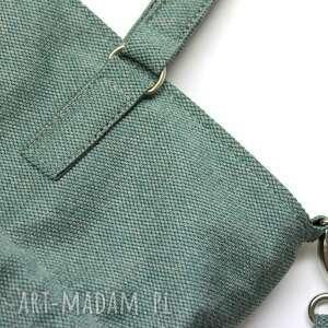 nowoczesna na ramię shopper bag sack - tkanina zielona