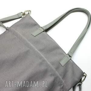 nowoczesna na ramię shopper bag sack - szara