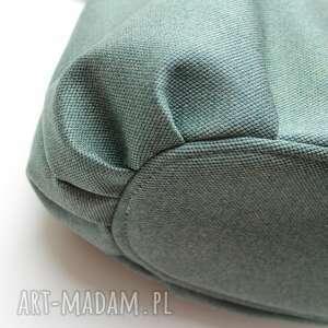wyjątkowe na ramię nowoczesna shopper bag sack - tkanina zielona