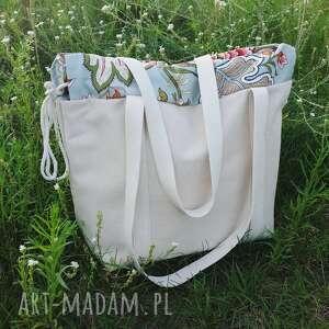 f06c65967ead4 kolorowe na ramię shopperbag płótno worek kwiaty