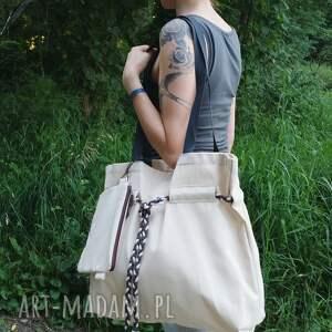 na ramię torba shopperbag płótno pleciony sznurek