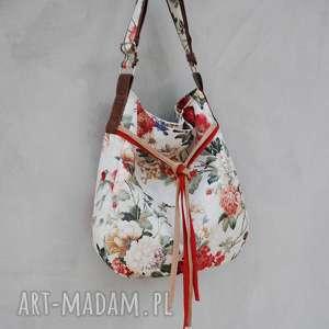 trendy na ramię kwiaty simply bag - duża torba worek