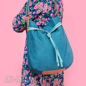 worek na ramię zielone simply bag - duża torba