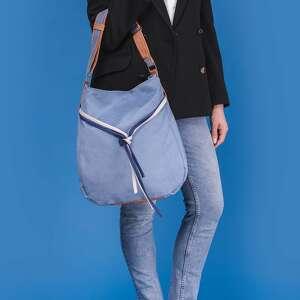 worek na ramię niebieskie simply bag - duża torba