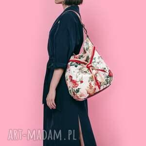 kwiaty na ramię czerwone simply bag - duża torba worek
