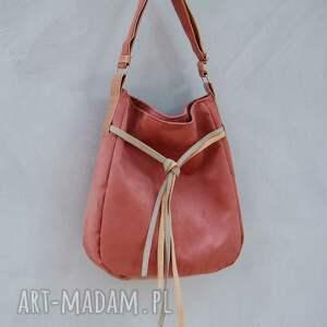 ręczne wykonanie na ramię worek simply bag - duża torba