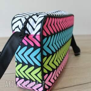 pomysł na upominek święta single bag - kolorowe zygzaki