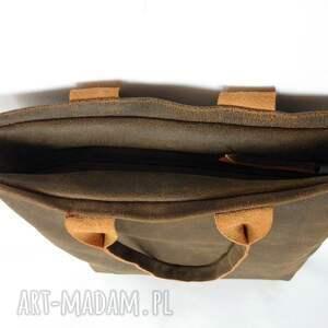 ba2fa3cbd799b brązowe na ramię torba skórzana duża xxl