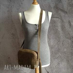 handmade na ramię mini torebka skórzana