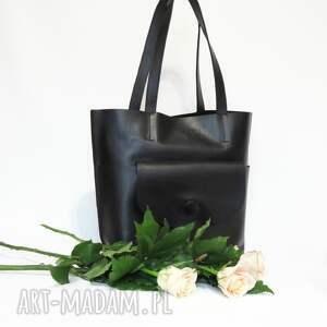 hand made na ramię skóra skórzana torebka typu shopper