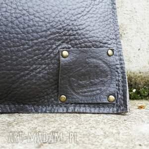 torebka na ramię brązowe skórzana kopertówka vintage
