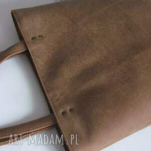 trendy na ramię shopperka skórzana torebka