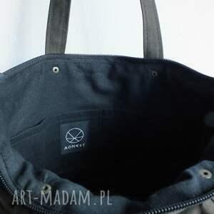wodoodporna na ramię solidna torba canvas khaki mandala