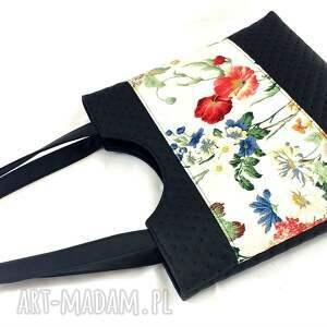czarne na ramię torebka springs flowers