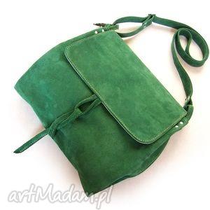 unikalne na ramię skóra surowa baronowa zielona zamszowa