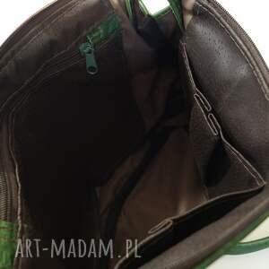 ręczne wykonanie na ramię skóra surowa baronowa zielona pull