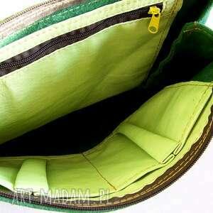 zielone na ramię skóra surowa baronowa zielona zamszowa