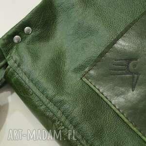 zielone na ramię skóra surowa baronowa zielona