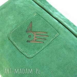 zieleń na ramię surowa baronowa zielona zamszowa