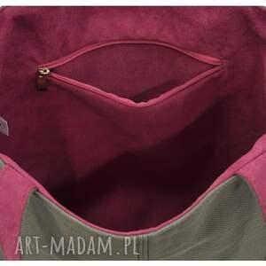 szare duże torby ze skóry 16 -0026 szara duża torebka damska