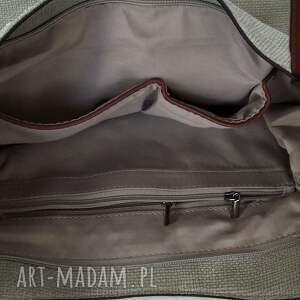 na ramię torebka szara torba