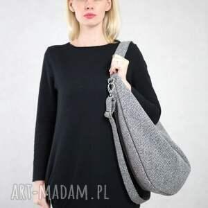 na ramię szara-torba-worek szara torba w kształcie worka co