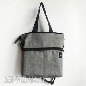 gustowne na ramię torba z-kieszeniami szara