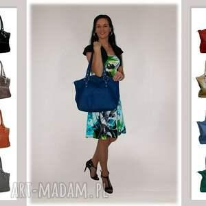 modne-torby-skórzane na ramię 41-0003 szara torebka skórzana