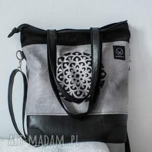 ae2662130bdca torba-kobieca na ramię szaro czarna torba mandala