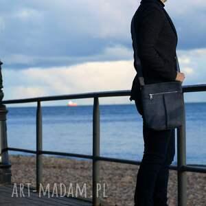 na ramię torebka szaro niebieska listonoszka