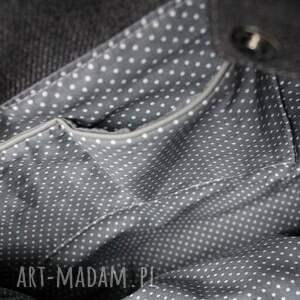 pomysł na upominek elegancka szoperka - grafit i tkanina