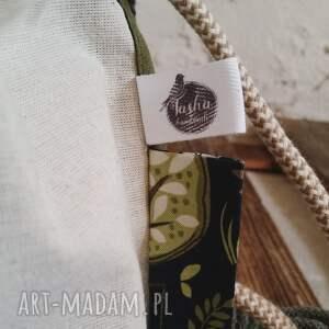 na ramię zestaw tashpack khaki & tajemniczy las / tkaninowe torby
