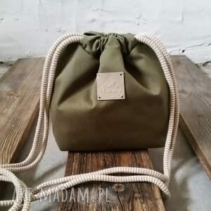 brązowe na ramię torby tashpack khaki & tajemniczy las / tkaninowe