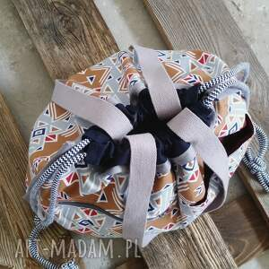 na ramię sportowe tashpack szary & amber aztec / tkaninowe torby