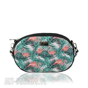 hand made na ramię torebka taszka ovum touch 1075 flamingi