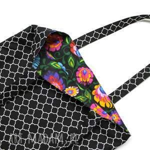 ręcznie robione na ramię pakowna torba bawełniana - koniczyna