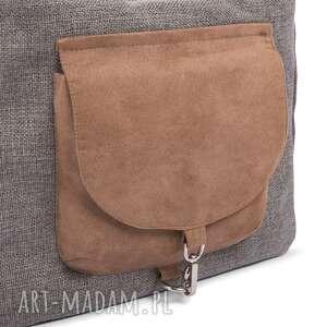 na ramię stylowa torba big duo xl - ciemny popiel